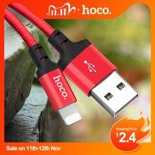 HOCO 최고의 USB 케이블 충전 아이폰 8 7 6 5 플러스 USB 케이블 빠른 충전기 데이터 케이블 아이폰 11 프로 X XS 최대 XR iPad 케이블