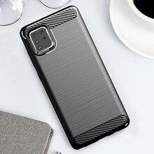 Carbon Fiber Shockproof Case For Samsung galaxy A51 A71 Note 10 lite S10 lite S20 Ultra A31 M31 M21 Soft TPU Silicone Back Cover