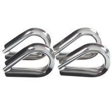 4 x Stainless Steel - 3mm Wire rope loop Rope Thimbles