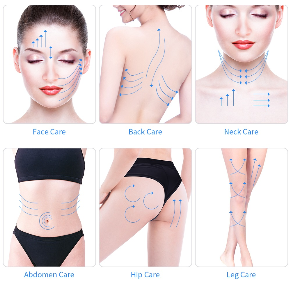 Image 5 - Ultrasonic Women Face Whitening Wrinkle Removal Anti Aging Face Lifiting Massage Machine Ultrasound Body Slimming Massager-in Face Skin Care Tools from Beauty & Health