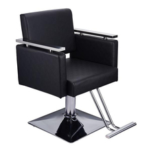 HC197B Square Base Boutique Hair Salon Special Hairdressing Chair Beauty Chair Black