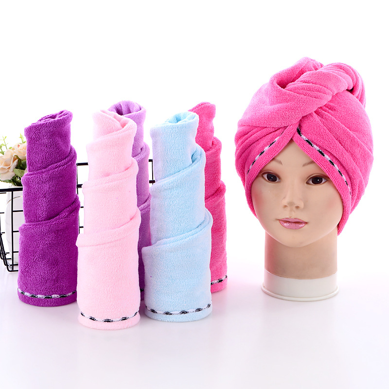 Microfiber hair towel Dry Hair Cap Absorbent hair towel wrap Thicken Quick Dry Hair Hat Cap Turban Head Wrap Bathing Tools