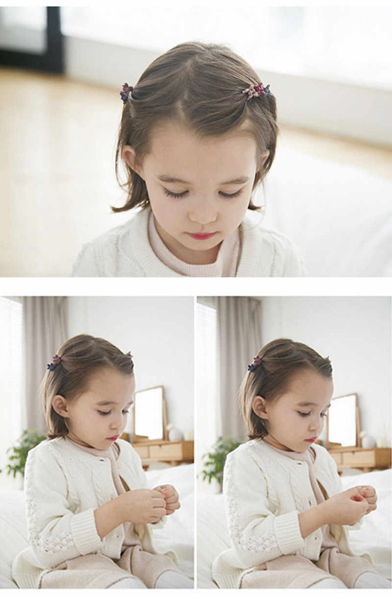 10/20 Pcs Warna Acak Lucu Anak Gadis Jepit Rambut Bunga Kecil Gripper 4 Cakar Plastik Rambut Klip Clamp Jepit rambut Akses