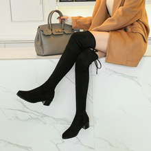 New Women Thigh High Boots Flock Leather Female Over The Knee Boots Lace Up Sexy High Heels Women Shoes Winter Boots IM02A choudory boots women shoes genuine leather thigh high boots sexy fashion over the knee boots shoes woman high hoof heels lace up