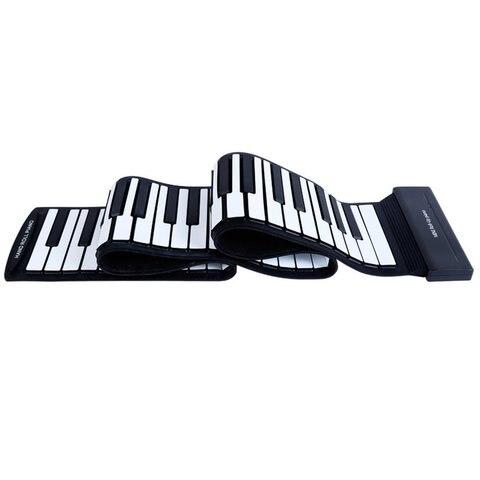 88 teclas para a mao de piano espessamento profissional midi teclado macio dobravel portatil orgao
