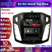 ZOYOSKII Android 10 Vertikale Tesla Bildschirm Auto Gps Multimedia Radio-Navigation-Player Für Ford Focus 3 Mk 3 Salon 2012-2018