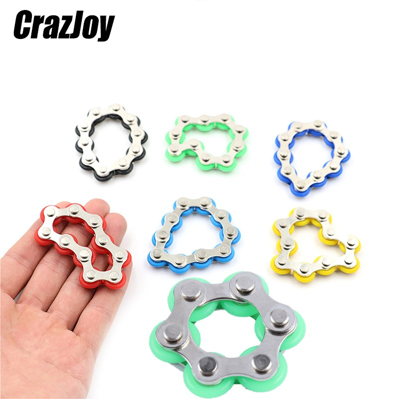 Bike Chain Toy Anxiety Relief Roller Novelty Antistress Sensory Kids Toys Stress Reliever Decompression Fidgeting Child Toy Gift