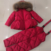 2020 Winter Baby Girl Clothes Fur Hoodie Girls Sets Down Warm Boys Clothing Set Sport Children's Suit Teenage Kids Snow Outfits