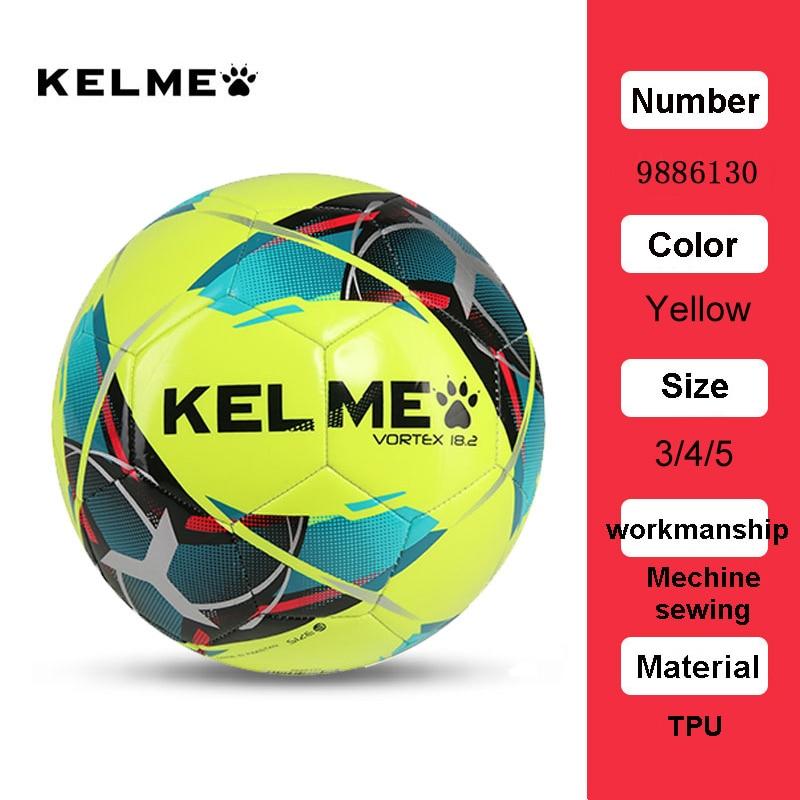 KELME Professional Football Soccer Ball TPU Size 3 Size 4 Size 5 Red Green Goal Team Match Training Balls 9886130 21