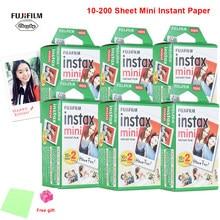 Fujifilm instax mini filme 8 9 filme 10-200 folha mini papel fotográfico instantâneo branco para câmera instax mini7s 50s 90 papel fotográfico branco