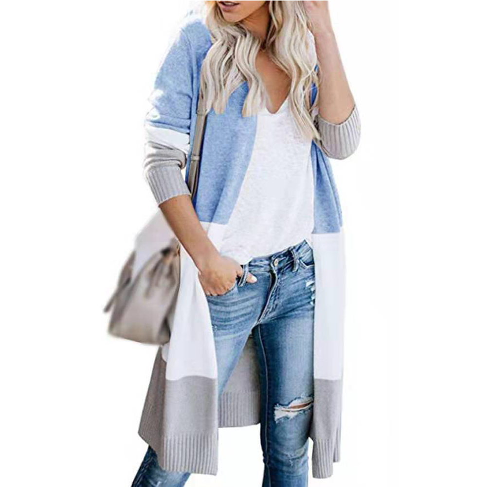Casual Thin Sweater Women Cardigan Lightweight Long Long Sleeve Fashion Soft Knitted Plus Size Coat Autumn Open Front Outwear