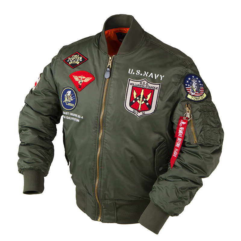 2019a/w Winter Top Gun Bomber Flight Jacket Varsity Tactical MA-1 Air Force Army Vintage Pilot Motorcycle Us Navy For Men Coat