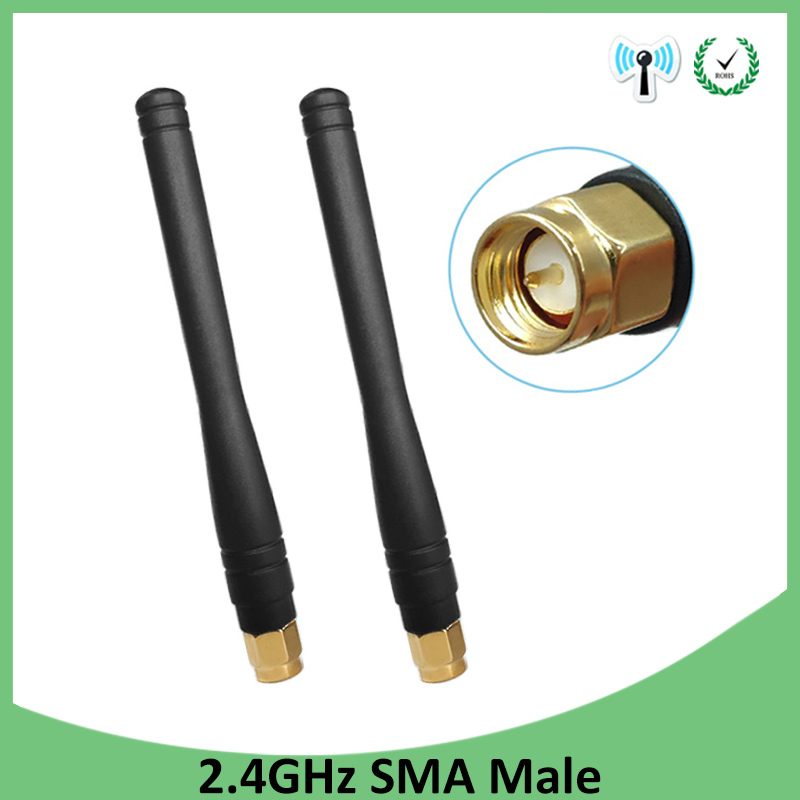 2pcs 2.4GHz WIFI Antenna 2dBi-3dbi Aerial SMA Male Connector Wi Fi Antena 2.4 Ghz Antenne Wi-fi For Wireless Router Antenas