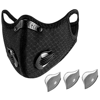 Bike Face Cover With 3pcs Filter Unisex Dustproof Cycling Outdoors Sports Mouth Cover Sweat Headband mascarilla con valvula mask