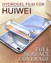 Screen Protector For Huawei P40 Pro Hydrogel Film P30 P20 P9 P10 Lite Soft Full Coverage Protective Nova 5 6se 7Pro TPU Membrane