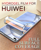 Protector de pantalla para Huawei P50 P40 Pro, película de hidrogel P30 P20 P10Lite, suave, cobertura completa, Nova 5 6se 7Pro, membrana de TPU