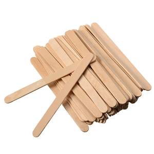 Image 2 - Shellhard 50pcs Disposable Tongue Depressors Wooden Hair Removal Tattoo Waxing Stick Tongue For Beauty Tools 114mm x 10mm x 2mm