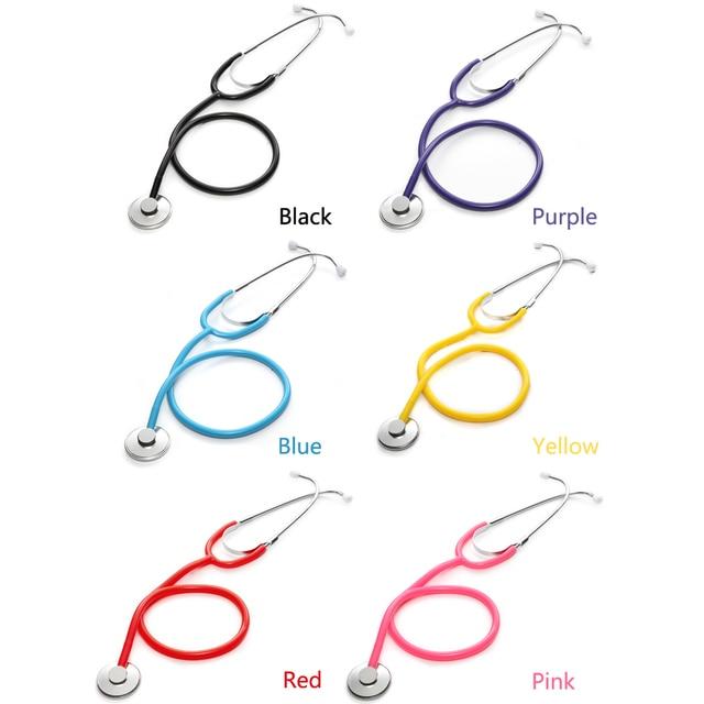 Portable Single Head Stethoscope Professional Cardiology Stethoscope Doctor Medical Equipment Student Vet Nurse Medical Device 6