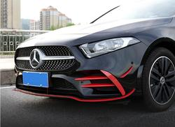 ABS z włókna węglowego przedni zderzak lampa przeciwmgielna Lip Splitters fartuchy klapy Spoiler dla Benz W177 A klasa A35 A180 A200 A260 2019 2020