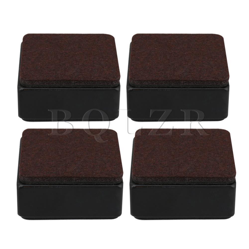 BQLZR 4pcs 60x60x30mm Carbon Steel Black Furniture Legs Lifter For Sofa Table