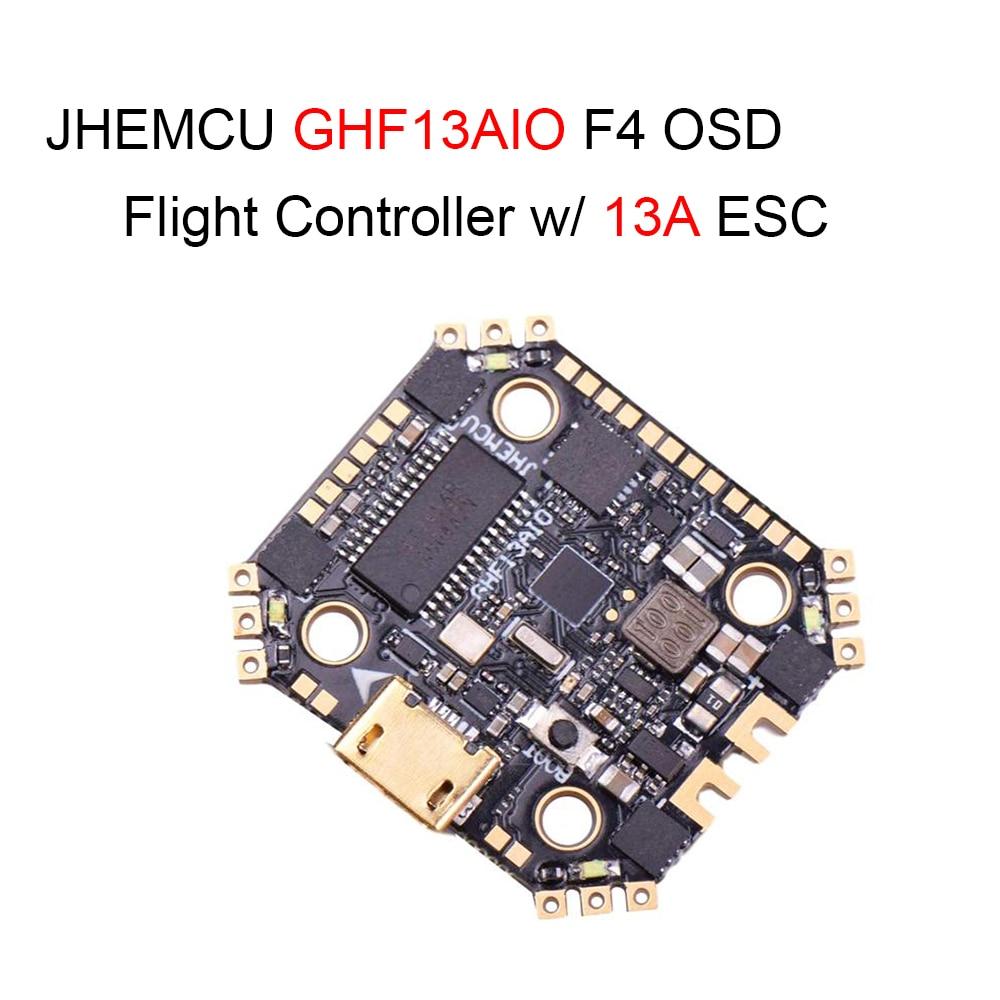 JHEMCU GHF13AIO Betaflight MPU6000 F4 OSD FPV гоночный Полетный контроллер w/Встроенный 13A 4in1 бесщеточный ESC для радиоуправляемых дронов
