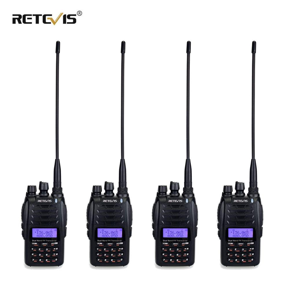 Retevis RT23 Dual Receive Walkie Talkie 4pcs Dual PTT 5W  VHF UHF Dual Band 1750Hz DTMF Scan FM Radio Cross-Band Repeater Func