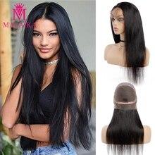 Парики из натуральных волос без клея, человеческие волосы, парики для черных женщин, индийские прямые волосы, MALAIKA