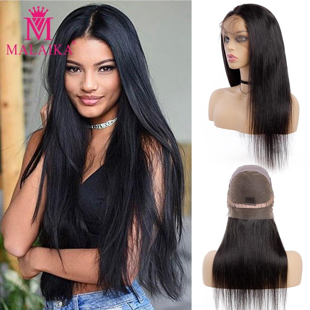 Glueless Full Lace Human Hair Wigs Pre Plucked 100% Human Hair Wigs For Black Women Indian Straight Wig MALAIKA Hair