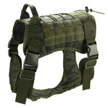 Регулируемый защитный Тактический тренировочный дышащий военный водостойкий жилет для собак Мягкая шлейка с ручкой из нейлона