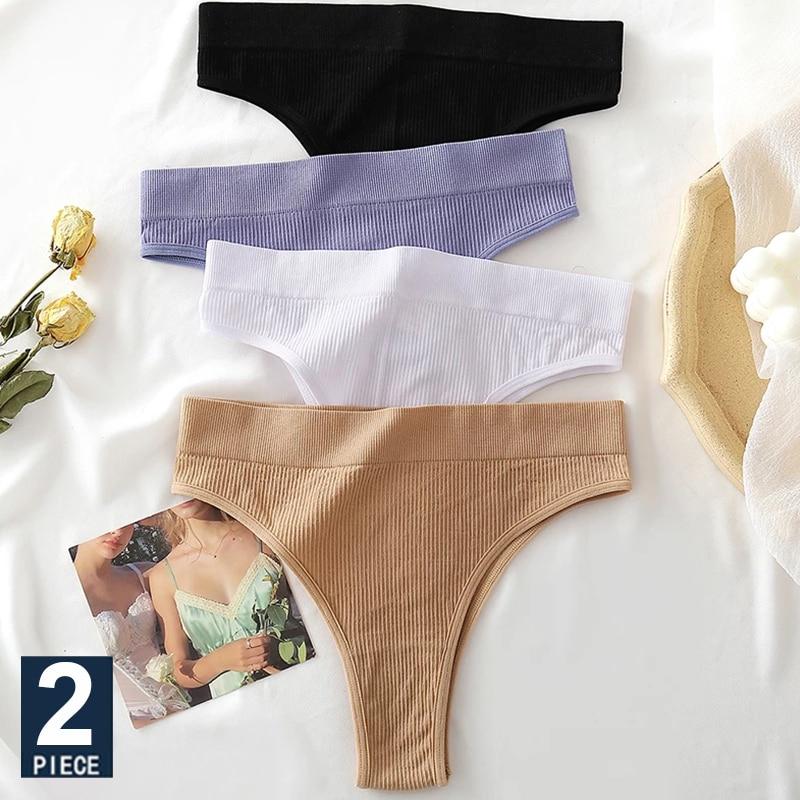 Donne senza soluzione di continuità Pantys ragazze infradito a vita alta morbido slip donna moda 6 colori solidi S-XL mutande Sexy per le donne nuovo 1