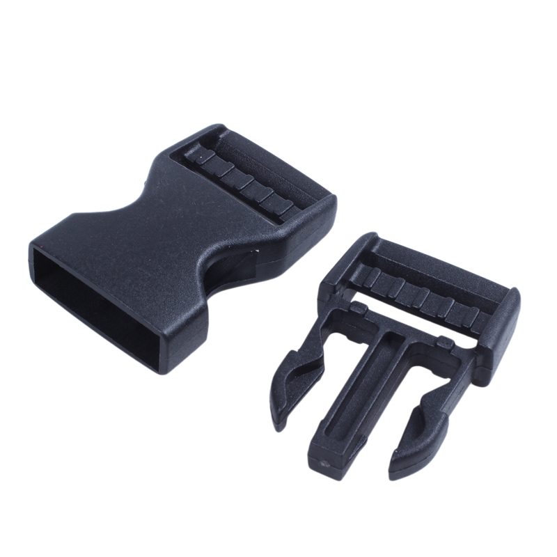 Hard Plastic Buckle Backpack Closure Fast 10 Pieces Black