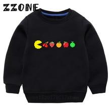 Kids Baby Pac-Man Eat Cartoon Sweatshirts