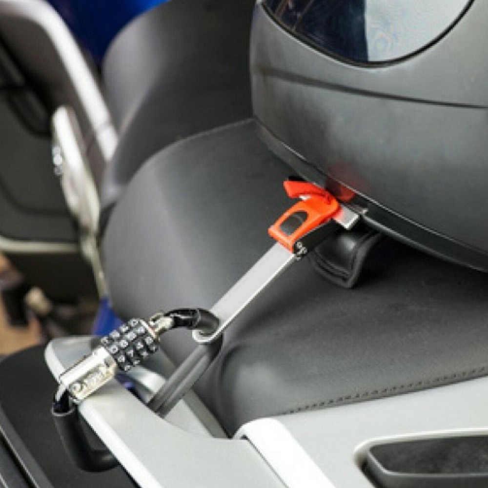 Evrensel kask güvenlik kilidi t-bar 3 haneli kombinasyon Honda Kawasaki Yamaha Harley KTM Suzuki kir bisiklet