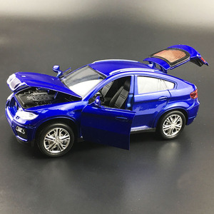 Image 4 - حار سبيكة دييكاست نموذج سيارة 1:32 BMW SUV X6 وامض الصوت الطفل سيارة معدنية اللعب التراجع عجلات الاطفال هدايا عيد الميلاد