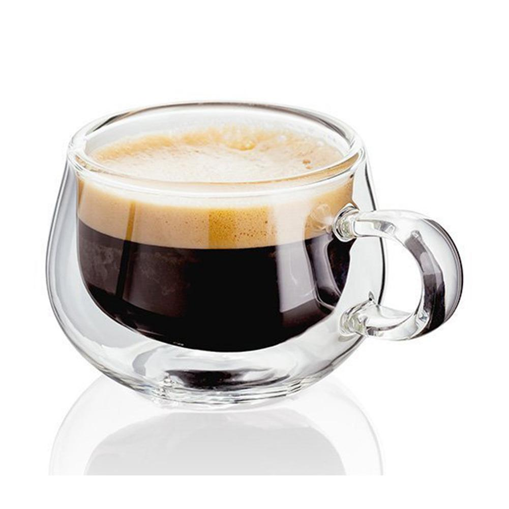 Стеклянная кружка с двойными стенками термостойкая чайная кофейная кружка с ручкой портативная прозрачная пивная кружка стеклянная чашка для виски 150 мл|Другие стаканы|   | АлиЭкспресс