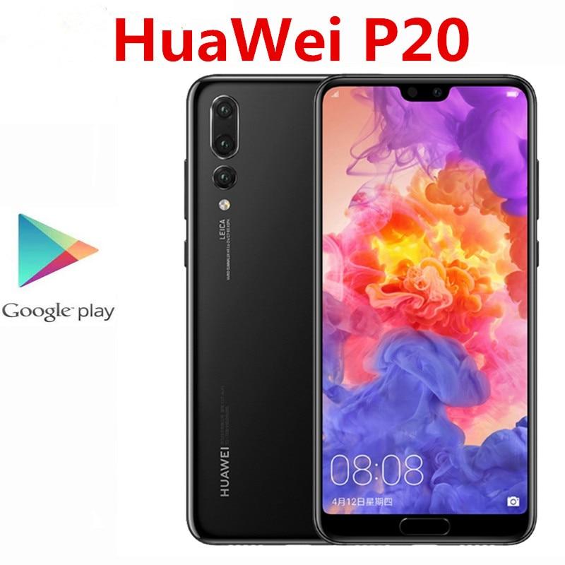 Оригинальный HuaWei P20 4 аппарат не привязан к оператору сотовой связи мобильный телефон 20.0MP + 12.0MP + 24.0MP Kirin 970 5,8