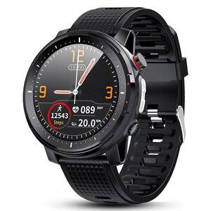 2020 l15 relógio inteligente 1.3 polegada completo-ajuste redondo esporte retina display bluetooth música controle da câmera com lanterna led para xiaomi