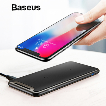 Baseus Qi Wireless Charger For iPhone Xs Max XR Samsung S9 Note 10 Xiaomi Desktop Wireless Charger Wireless Charging Pad Station 1