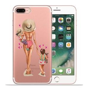 Пляжный чехол для девочки Sunmer, сексуальный чехол для мамы и ребенка для Funda iPhone 8 7 6 6S Plus X XS MAX XR 10 XI XIR XI Max, мягкий силиконовый чехол