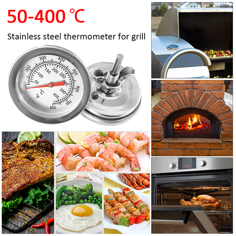 Hot 50-400℃ High Temperature Resistant Oven Thermometers Barbecue BBQ Pit Smoker Grill Thermometer Temperature Gauge Celsius