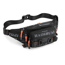 Fashion Letter Waist Bags For Men Casual Nylon Waist Packs Hot Sale Unisex Belt Bag Fanny Pack Travel Storage Chest Bags Leg Bag