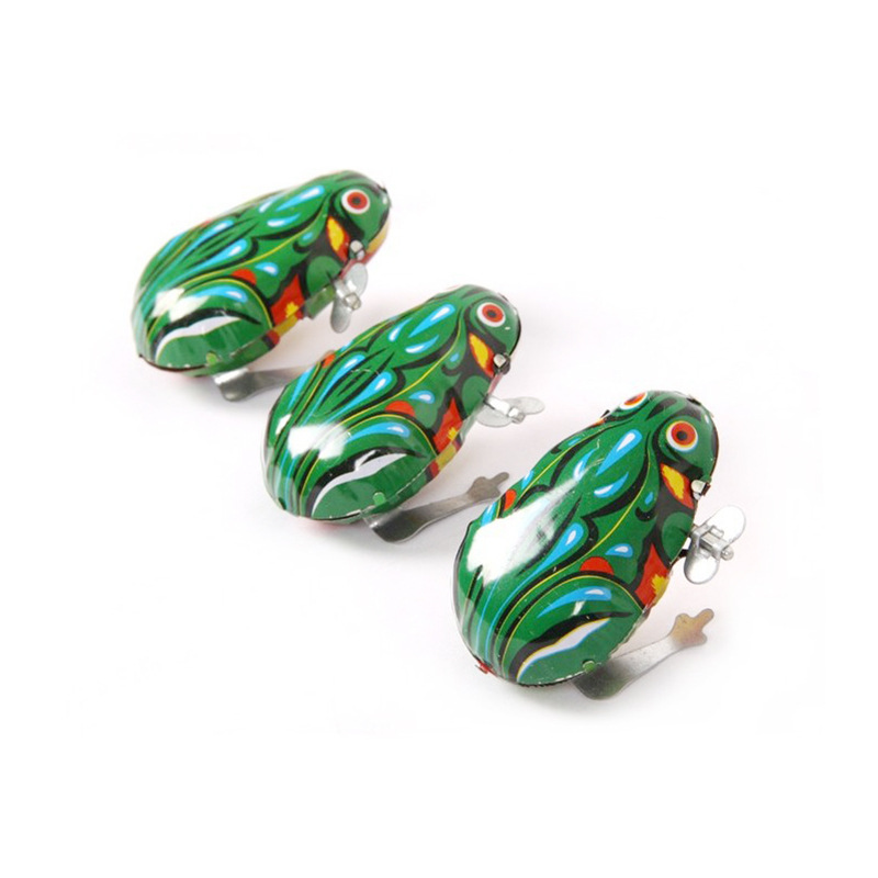 Algam Frog Leap Frog Children Winding Small Animal 80 Classic Nostalgic Winding Wind-up Toy Educational Gift