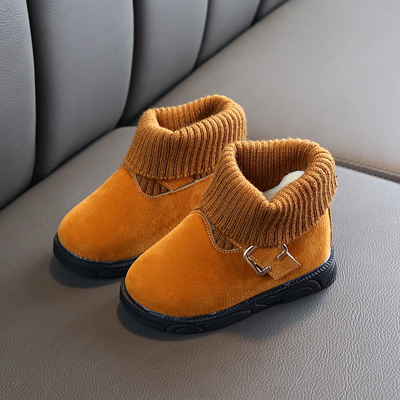 Comfy Kids Winter Fashion Girls Snow Boots Shoes Warm Plush Baby Snow Boots Shoes For Toddlers Warm Snow Boot