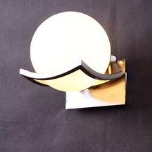 Бесплатная доставка, Уникальный креативный металлический стеклянный шар, настенная лампа, светодиодные Настенные светильники для прохода, коридора, спальни, прикроватная лампа, лампа, AC85 265V