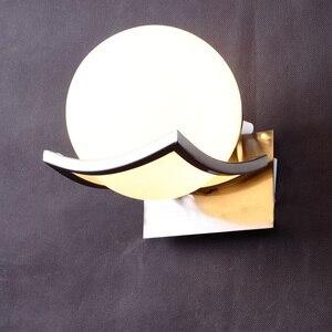 Image 1 - 送料無料】ユニークなクリエイティブ金属ガラスボール壁ランプ led ウォールライト通路廊下寝室のベッドサイドランプ AC85 265V