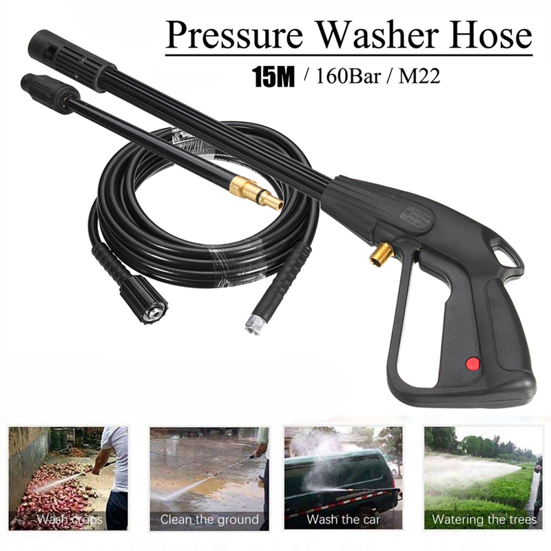 High Pressure Washer Spray G-Un,M22 Car Water Washer Cleaning Tool with 10M Hose for Cleaner Watering Lawn Garden