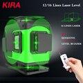 KIRA 16 Linien 4D Laser Ebene grüne linie Selbst Nivellierung 360 Horizontale Und Vertikale Super Leistungsstarke Laser ebene grün strahl laser le