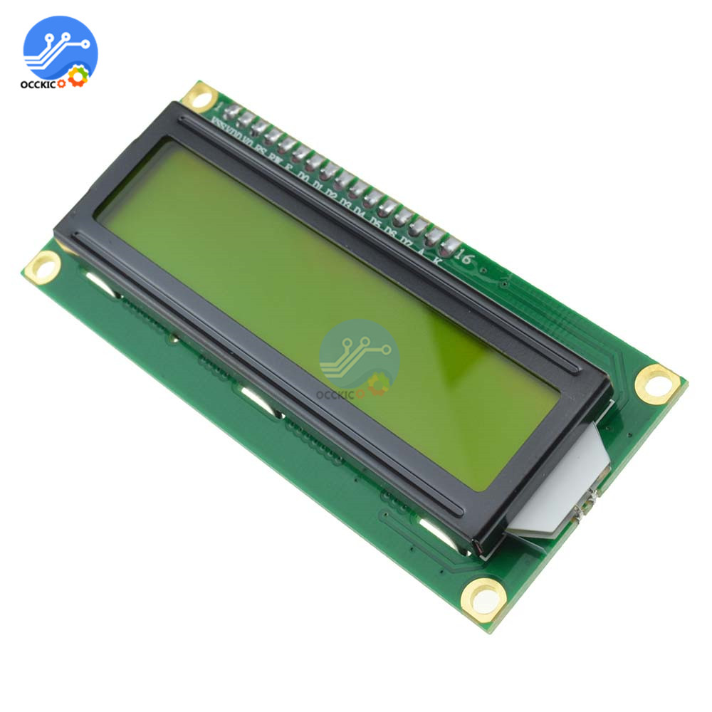3.3V LCD 1602 Yellow Backlight 16*2 Lines White Character LCD 1602A For Raspberry