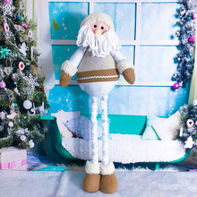 Santa Snowman Gnome for Home Indoor Outdoor Decoration Plush Christmas Ornaments Retractable Standing Toy Christmas Dolls