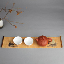 Creative New Hot Tea Tray Napkin Cloth Waterproof Table Runner Handmade Bamboo Curtain Tea Mat Tea